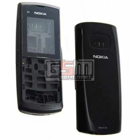 Корпус для Nokia X1-01, черный, high-copy