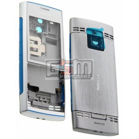 Корпус для Nokia X2-00, серебристый, high-copy