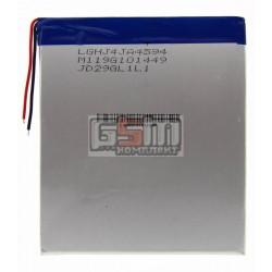 Аккумулятор для китайского планшета, универсальный (105*94*4.5 мм), (Li-ion 3.7V 3000mAh)