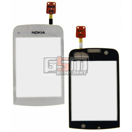 Тачскрин для Nokia C2-02, C2-03, C2-06, C2-07, C2-08, белый
