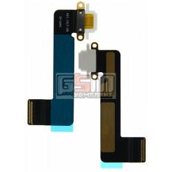 Шлейф для Apple iPad Mini, коннектора зарядки, с компонентами, белый
