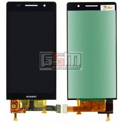 Дисплей для Huawei Ascend P6-U06, черный, с сенсорным экраном (дисплейный модуль)