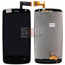 Дисплей для HTC Desire 500, черный, с сенсорным экраном (дисплейный модуль)