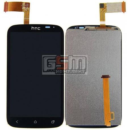 Дисплей для HTC T328e Desire X, черный, с сенсорным экраном (дисплейный модуль)