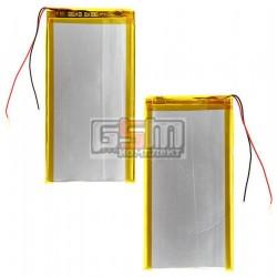 Аккумулятор для китайского планшета, универсальный (122*67*3,2 мм), (Li-ion 3.7V 3000mAh)