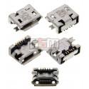 Коннектор зарядки Micro-USB для Nokia 6500c, 7900, 8800 Arte, XL Dual Sim; Sony Ericsson W100, X10 mini, 5 pin, тип-B