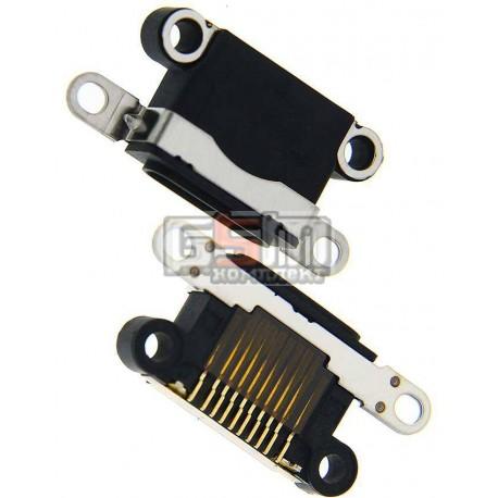 Коннектор зарядки для Apple iPhone 5, iPhone 5C, iPhone 5S, iPhone SE, черный