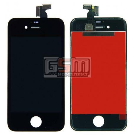 Дисплей для iPhone 4S, черный, high-copy, с сенсорным экраном (дисплейный модуль), с рамкой
