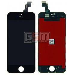 Дисплей для iPhone 5C, черный, high-copy, с сенсорным экраном (дисплейный модуль), с рамкой