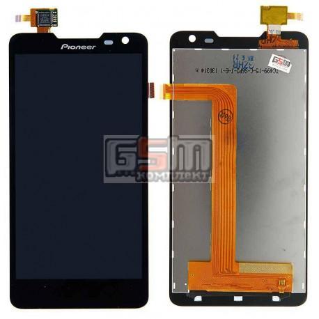 Дисплей для Pioneer S90W; Prestigio MultiPhone 5044 Duo, черный, с сенсорным экраном (дисплейный модуль)
