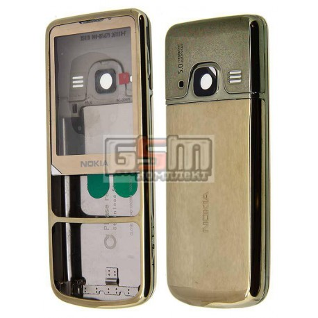 Корпус для Nokia 6700c, золотистый, high-copy, с клавиатурой