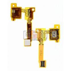 Шлейф для Sony C6902 L39h Xperia Z1, C6903 Xperia Z1, C6906 Xperia Z1, C6943 Xperia Z1, мікрофону, з компонентами