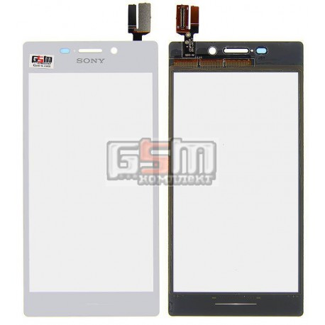 Тачскрин для Sony D2302 Xperia M2 Dual, D2303 Xperia M2, D2305 Xperia M2, D2306 Xperia M2, белый