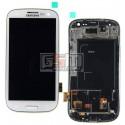 Дисплей для Samsung I9300 Galaxy S3, белый, с сенсорным экраном (дисплейный модуль), с передней панелью