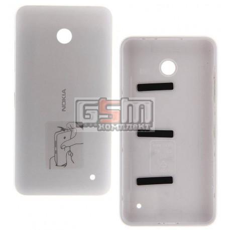 Задняя панель корпуса для Nokia 630 Lumia Dual Sim, белая, с боковыми кнопками