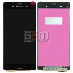 Дисплей для Sony D6603 Xperia Z3, D6633 Xperia Z3 DS, D6643 Xperia Z3, D6653 Xperia Z3, черный, original (PRC), с сенсорным экра
