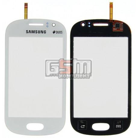 Тачскрин для Samsung S6810 Galaxy Fame, белый