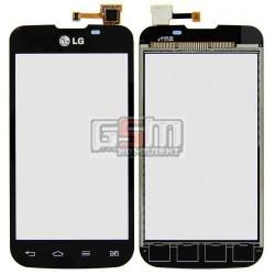 Тачскрин для LG E455 Optimus L5 Dual SIM, черный