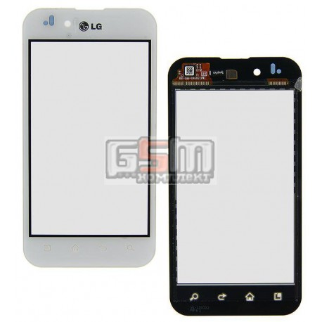 Тачскрин для LG P970 Optimus Black, белый