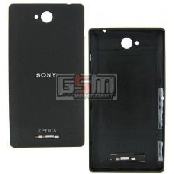 Задняя панель корпуса для Sony C2305 S39h Xperia C, черная