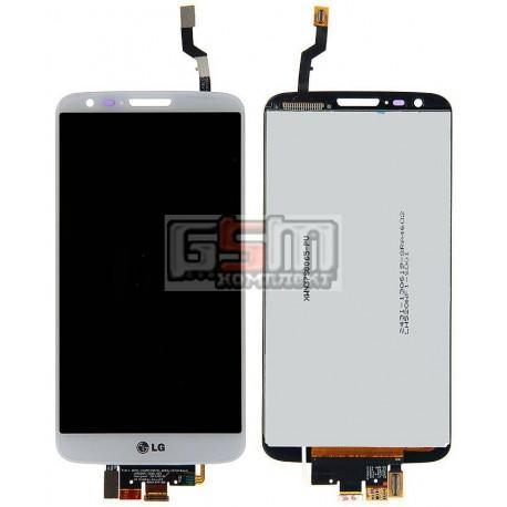 Дисплей для LG G2 D802, G2 D805, белый, original (PRC), с сенсорным экраном (дисплейный модуль), 20 pin