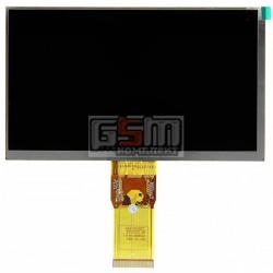 Дисплей для планшета China-Tablet PC 7, шлейф 65 мм, (164*97 мм), 50 pin, 7, (1024*600), #7300101466/XC070XY/E231732/E242868