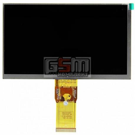 """Дисплей для планшета China-Tablet PC 7"""", шлейф 65 мм, (164*97 мм), 50 pin, 7"""", (1024*600), #7300101466/XC070XY/E231732/E242868"""