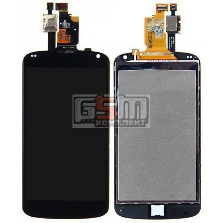 Дисплей для LG E960 Nexus 4, черный, с сенсорным экраном (дисплейный модуль)