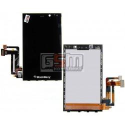 Дисплей для Blackberry Z10, чорний, з рамкою, з сенсорним екраном (дисплейний модуль)