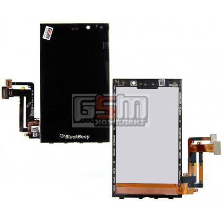 Дисплей для Blackberry Z10, черный, с сенсорным экраном (дисплейный модуль), с рамкой