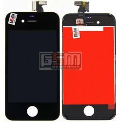 Дисплей для iPhone 4, черный, high-copy, с сенсорным экраном (дисплейный модуль), с рамкой