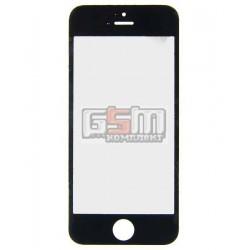 Стекло корпуса для Apple iPhone 5, iPhone 5C, iPhone 5S, iPhone SE, черное