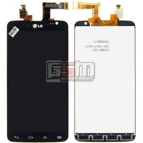 Дисплей для LG D686 G Pro Lite Dual, черный, original (PRC), с сенсорным экраном (дисплейный модуль)