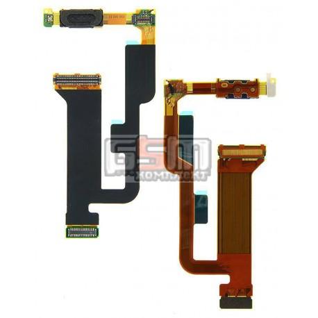 Шлейф для Sony Ericsson W995, межплатный, камеры, динамика, с компонентами