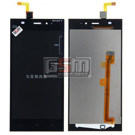 Дисплей для Xiaomi Mi3, черный, original (PRC), с сенсорным экраном (дисплейный модуль)