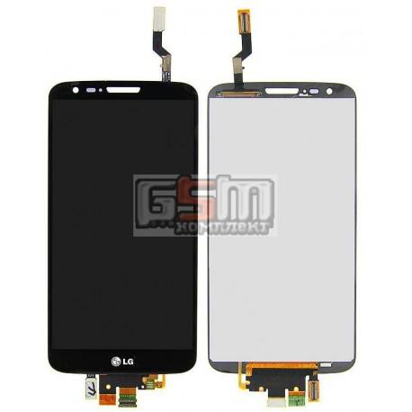 Дисплей для LG G2 D800, G2 D801, G2 D803, LS980, VS980, черный, original (PRC), с сенсорным экраном (дисплейный модуль), 34 pin