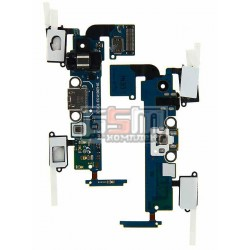 Шлейф для Samsung A500F Galaxy A5, A500FU Galaxy A5, A500H Galaxy A5, коннектора зарядки, коннектора наушников, микрофона, с ком