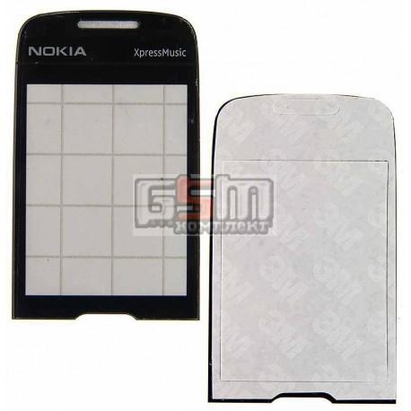 Стекло корпуса для Nokia 5130, черное