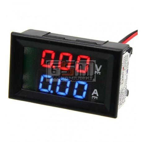 Вольтметр-амперметр цифровой, шунт встроенный, 0-100v 0-10A