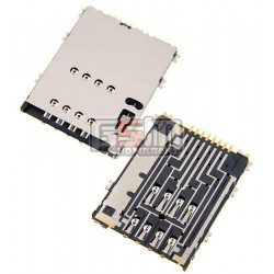Коннектор SIM-карты для Samsung S5250, S5750; планшетов Samsung P5100 Galaxy Tab2 , P6800 Galaxy Tab , P7500 Galaxy Tab, P7510 G