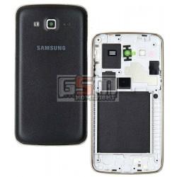 Корпус для Samsung G7102 Galaxy Grand 2 Duos, чорний