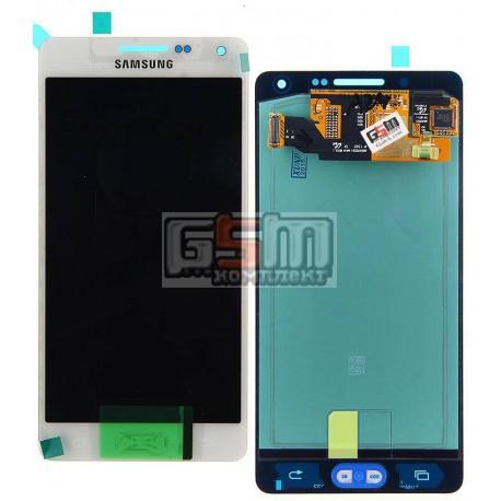 Дисплей для Samsung A500F Galaxy A5, A500FU Galaxy A5, A500H Galaxy A5, белый, с сенсорным экраном (дисплейный модуль)