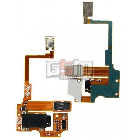 Конектор handsfree для LG P990, зі шлейфом