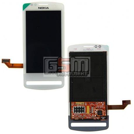 Дисплей для Nokia 700, копия, белый, с тачскрином