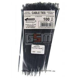 Стяжка кабельная 150х2,5мм черная, 100 шт
