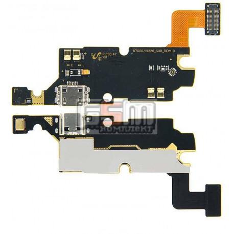 Шлейф для Samsung I9220 Galaxy Note, N7000 Note, коннектора зарядки, микрофона, с компонентами
