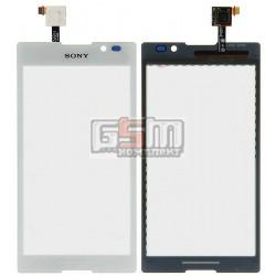 Тачскрин для Sony C2305 S39h Xperia C, белый
