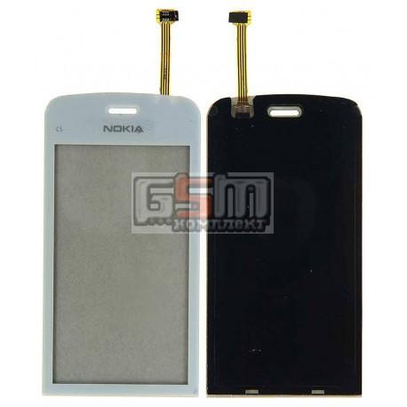 Тачскрин для Nokia C5-03, C5-06, белый, copy