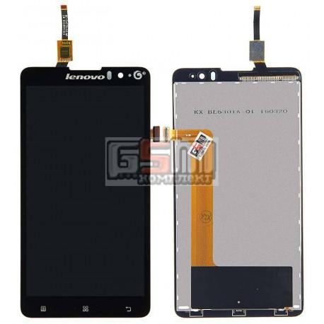 Дисплей для Lenovo S8 S898T, S8 S898T+, черный, с сенсорным экраном (дисплейный модуль)