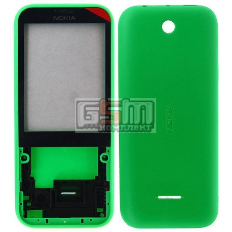 Корпус для Nokia 225 Dual Sim, зеленый